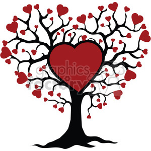 Clipart tree heart transparent library tree of life and love red hearts clipart. Royalty-free clipart # 392567 transparent library