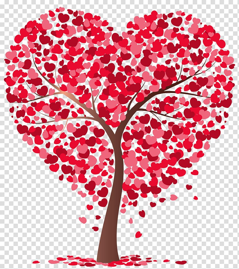 Clipart tree heart png free stock Tree, Heart Tree , pink and red heart tree illustration transparent ... png free stock