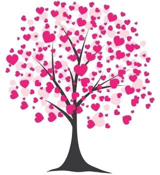 Clipart tree heart png download valentines clip art | Free Valentine\'s Day Clipart of a tree ... png download