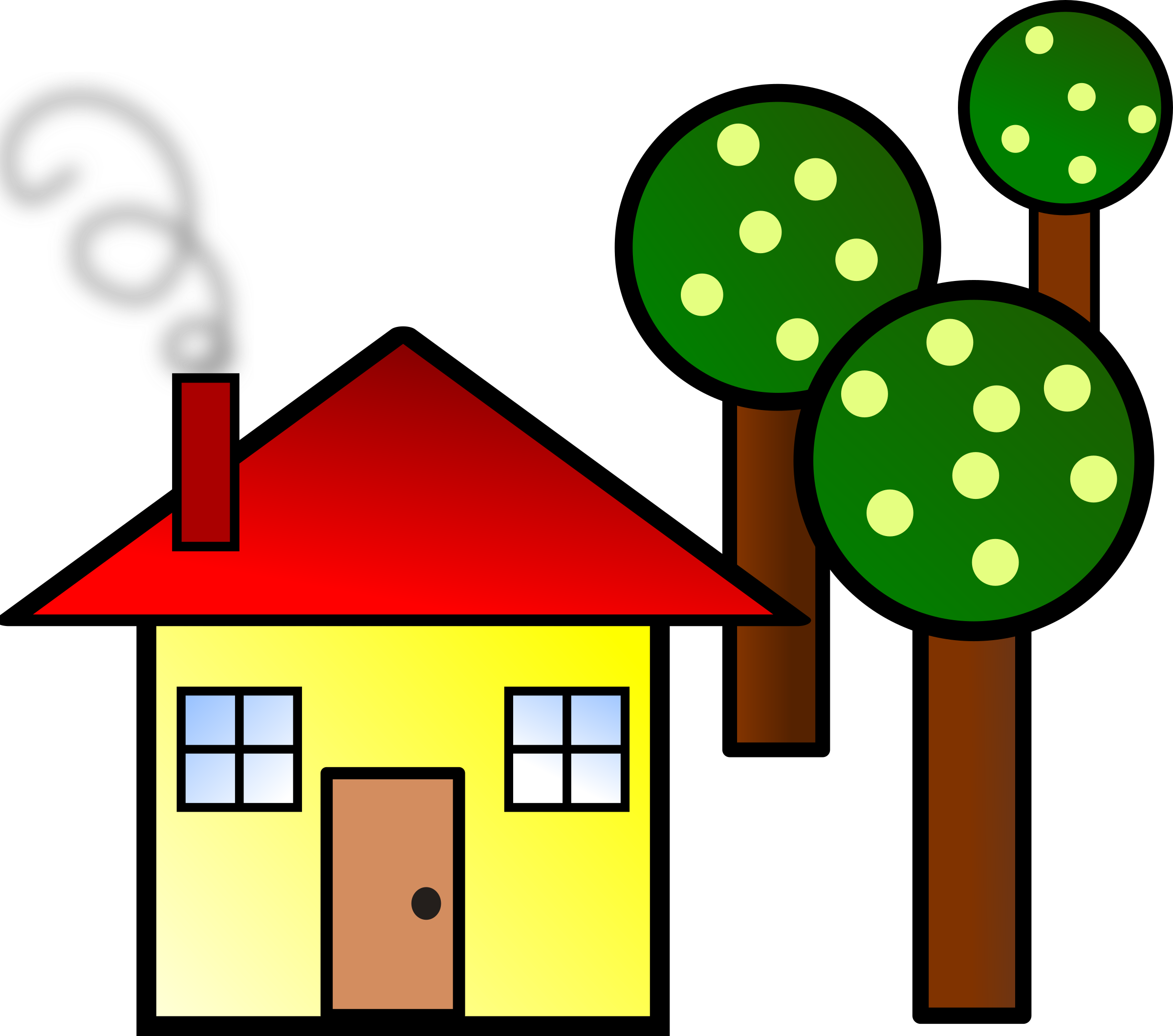 Family house clipart image library stock Clipart - house with trees image library stock