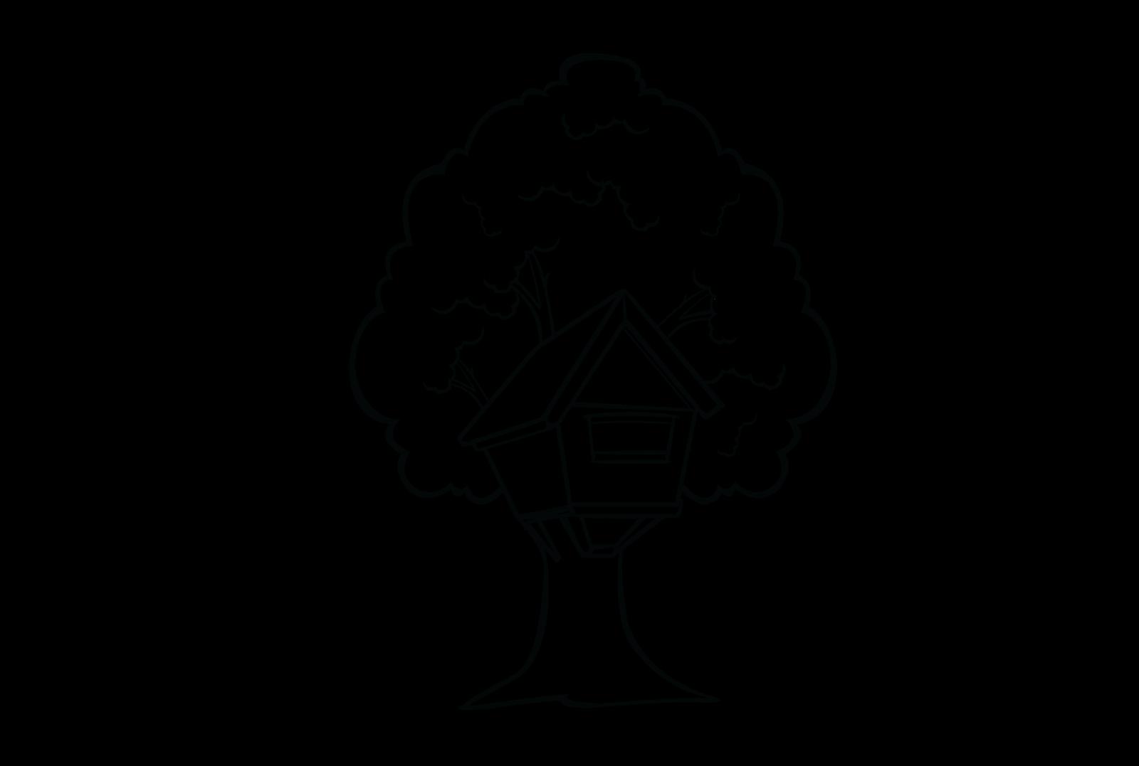 Clipart tree house black and white banner transparent stock Fiverrtastic: Illustrators on Fiverr banner transparent stock