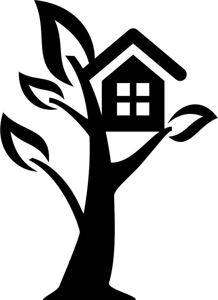 Clipart tree house black and white clip freeuse stock Tree House Svg Png Icon Free Download (#66428) - OnlineWebFonts.COM clip freeuse stock