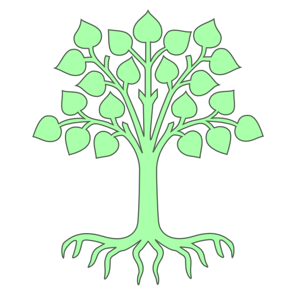 Tree roots clipart svg transparent Tree Light Green Clip Art at Clker.com - vector clip art online ... svg transparent