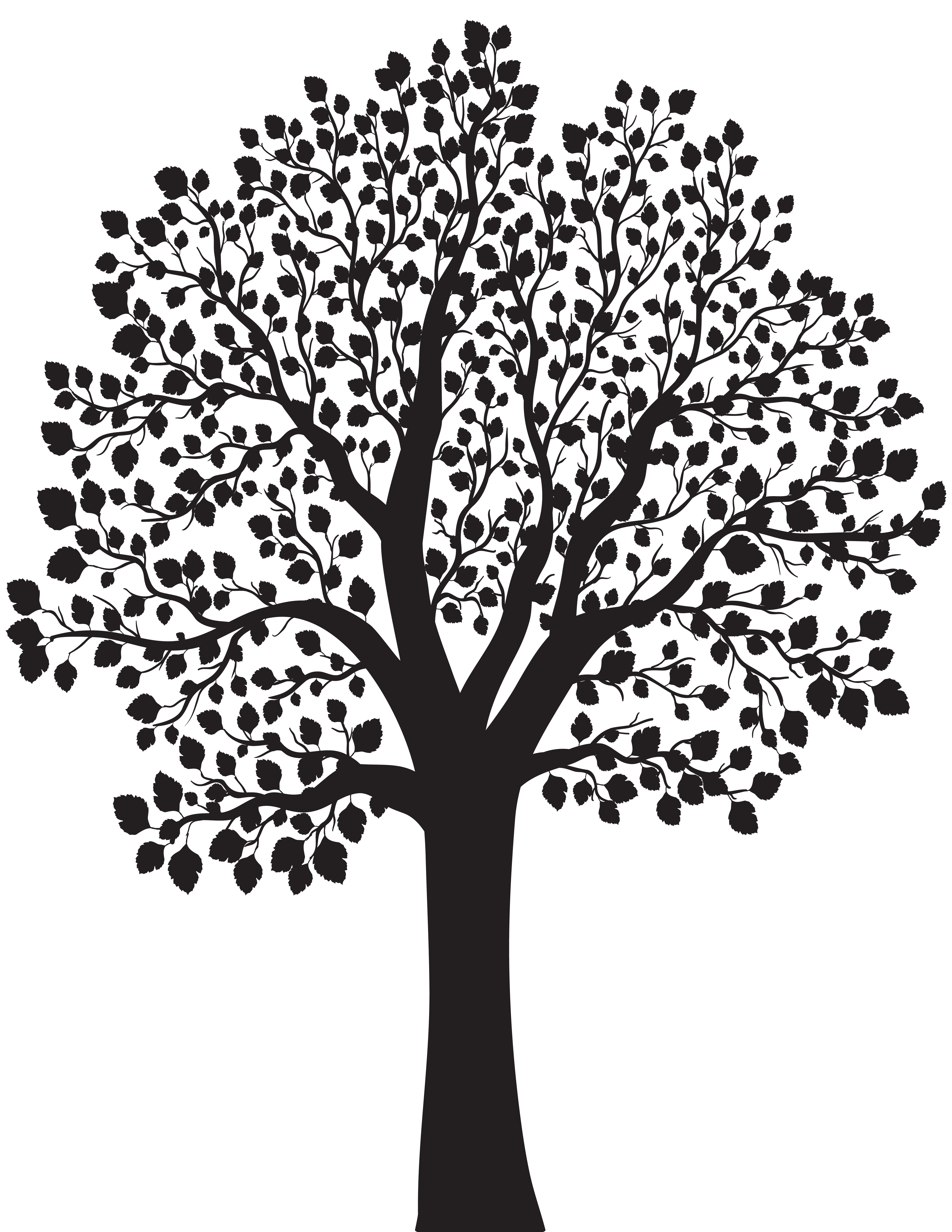 Silhouette tree clipart picture freeuse download Tree Silhouette PNG Clip Art Image | Gallery Yopriceville - High ... picture freeuse download