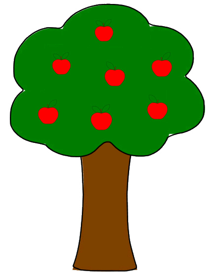 Clipart tree with apples jpg free download Apple falling from tree clipart - ClipartFest jpg free download