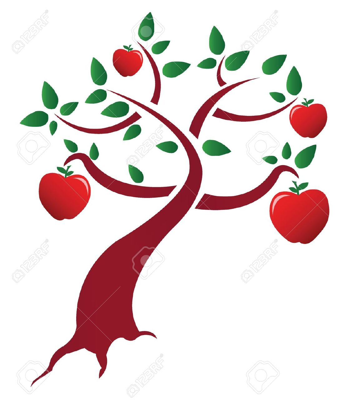 Clipart tree with apples banner free 14,413 Apple Tree Stock Illustrations, Cliparts And Royalty Free ... banner free