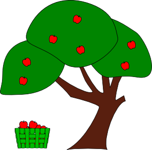Clipart tree with apples clip library download Apple Tree Clip Art at Clker.com - vector clip art online, royalty ... clip library download