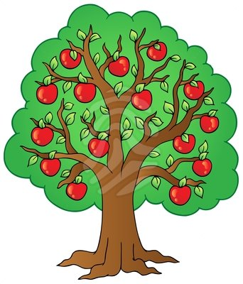 Clipart tree with apples banner royalty free download clipart apple tree | Clipart banner royalty free download