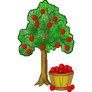 Clipart tree with apples jpg royalty free stock Apple Tree Clipart - Clipart Kid jpg royalty free stock