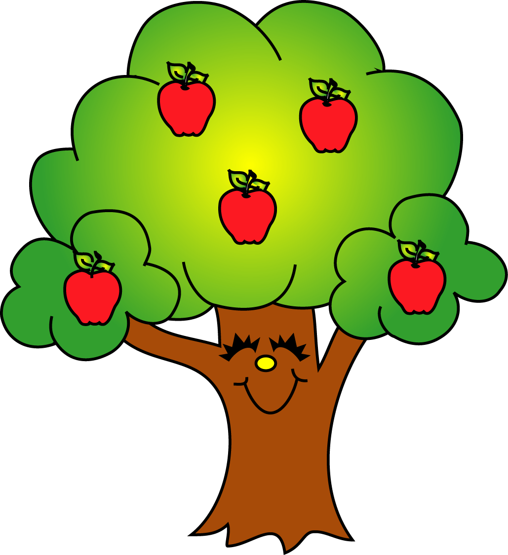 Free clipart apple leaf graphic transparent library Apples tree clip art - ClipartFest graphic transparent library