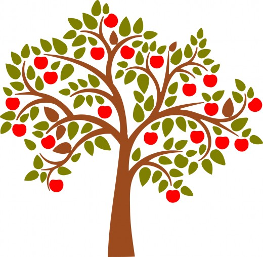 Clipart tree with apples svg black and white download Clipart tree with apples - ClipartFest svg black and white download