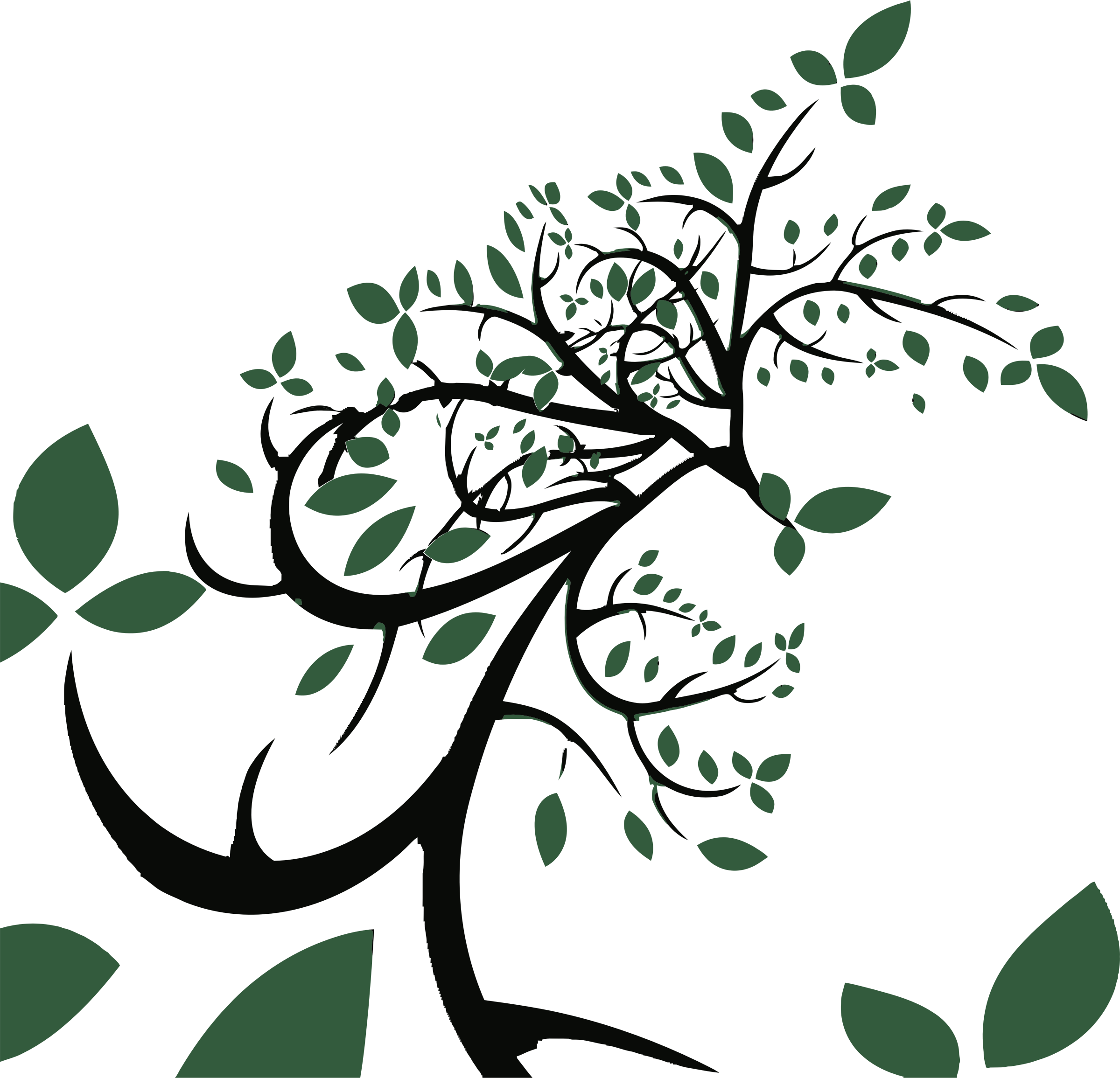 Tree with leaves clipart banner library library Clipart - Stylized Tree With Leaves banner library library