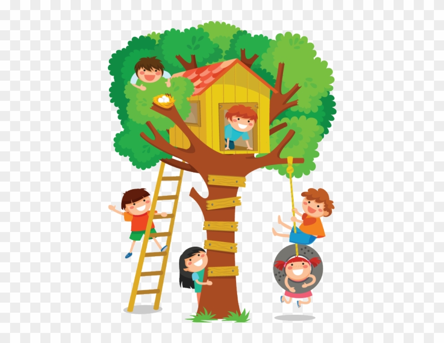 Up clipart house clip art freeuse stock The Children Played Up In The Tree House - Tree House Clipart Png ... clip art freeuse stock
