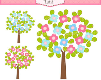 Clipart trees and flowers picture transparent library Spring Tree Clipart | Free Download Clip Art | Free Clip Art | on ... picture transparent library