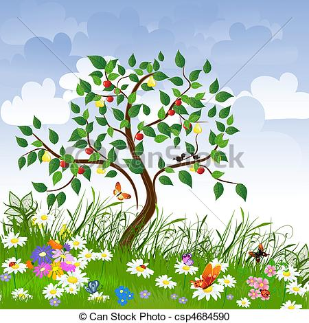 Clipart trees and flowers image transparent download Clipart trees and flowers - ClipartFest image transparent download