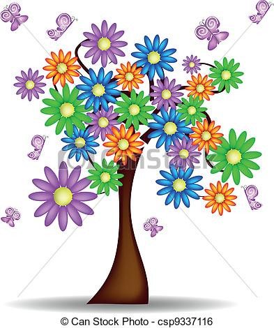 Clipart trees and flowers royalty free Clip Art Spring Trees In Bloom Clipart - Clipart Kid royalty free