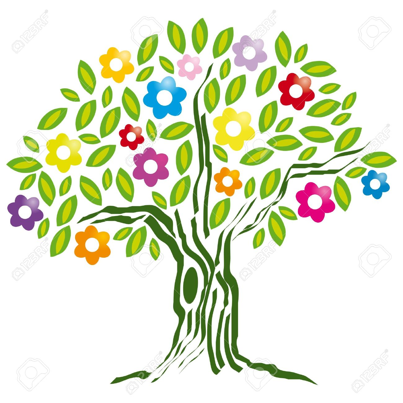 Clipart trees and flowers banner stock Clipart trees and flowers - ClipartFest banner stock