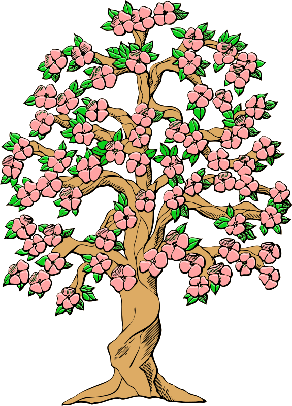 Clipart trees and flowers clip art freeuse download Clip Art Spring Trees In Bloom Clipart - Clipart Kid clip art freeuse download