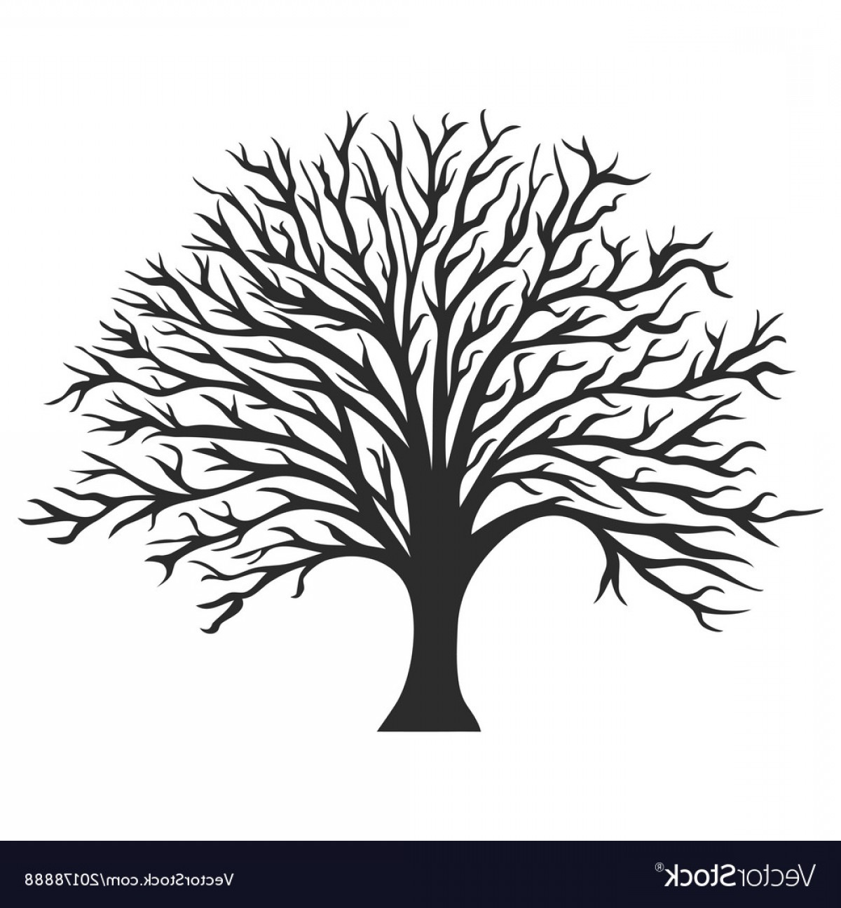 Clipart trees black and white free map svg library Tree Silhouette Vector Free | HandandBeak svg library