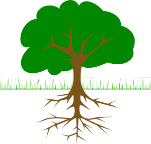 Clipart trees with roots image royalty free stock Tree Branches And Roots Clip Art at Clker.com - vector clip art ... image royalty free stock