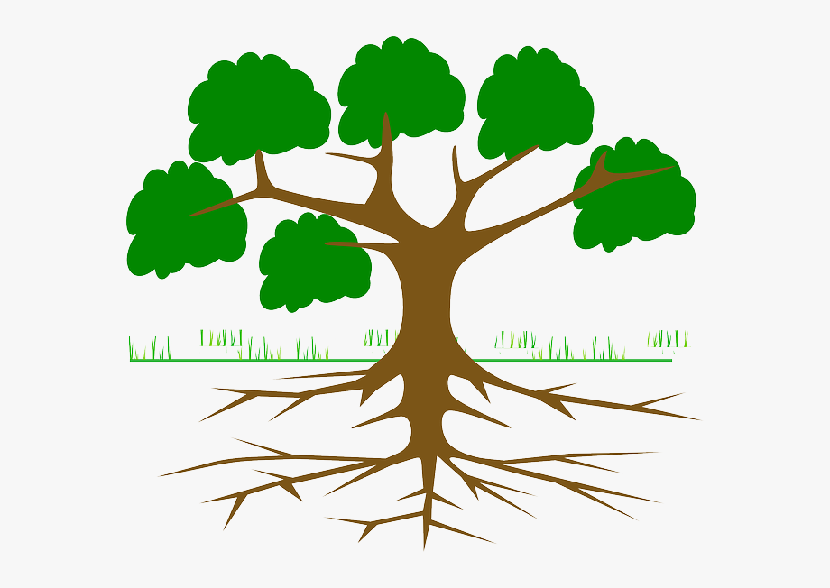 Clipart trees with roots clipart black and white library Tree Root Cause Analysis - Tree With 6 Branches #561717 - Free ... clipart black and white library