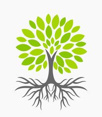 Clipart trees with roots svg black and white stock Tree with roots | Tree with roots! | Tree illustration, Vector trees ... svg black and white stock