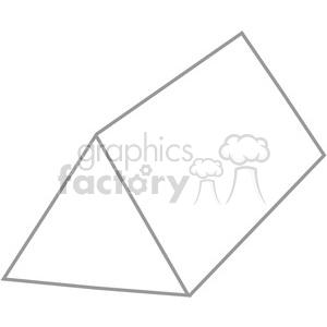 Clipart triangular prism