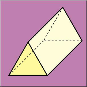 Clipart triangular prism image royalty free Clip Art: 3D Solids: Triangular Prism Color I abcteach.com | abcteach image royalty free