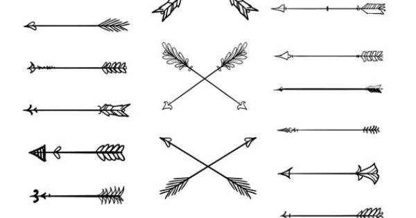 Clipart tribal arrow banner library download Doodle Tribal Arrows Clipart: 23 vector arrows by BlackCatsMedia ... banner library download