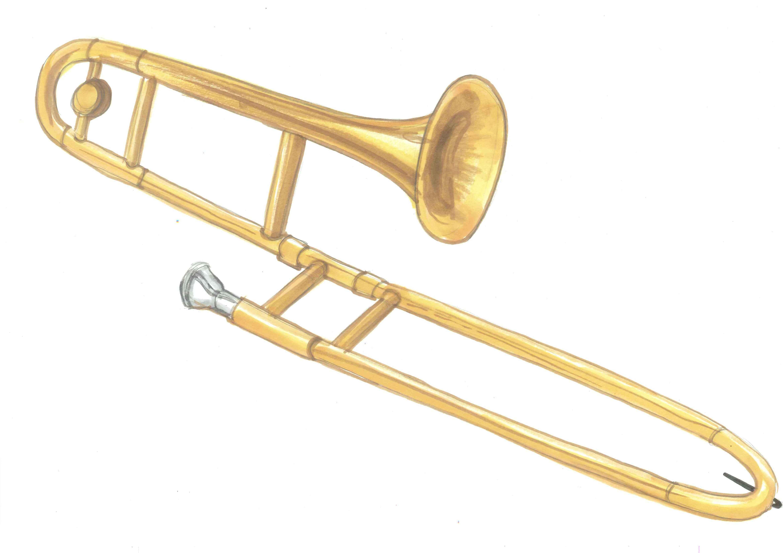 Clipart trombone gratuit royalty free Trombone clip art - ClipartFest royalty free