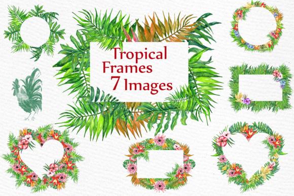 Clipart tropical clip art transparent Watercolor Tropic Frames Clipart TROPICAL CLIPART Tropical leaves clip art transparent