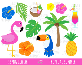 50% sale TROPICAL SUMMER clipart, flamingo clipart, tropical flowers banner royalty free stock