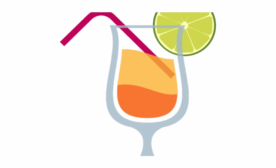 Tropical drinks clipart image black and white Drinks Clipart Tropical Drink - Juice Emoji Free PNG Images ... image black and white