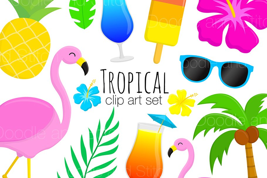 Tropical Clipart Illustrations clip art transparent library