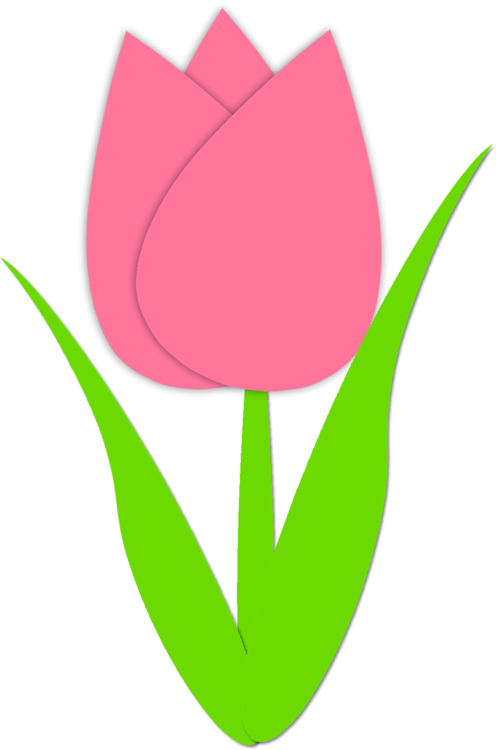 Clipart tulip flower clipart library Simple Tulip Outline Simple tulip outline | Spring | Pinterest ... clipart library