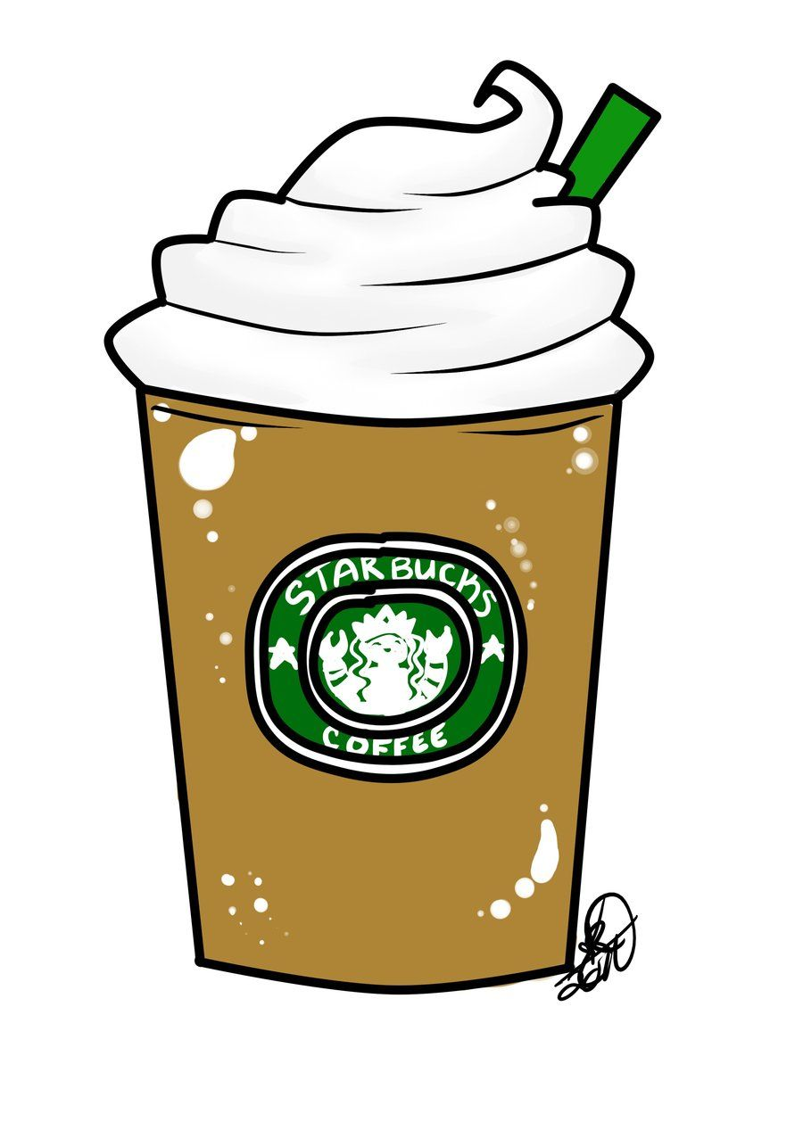 Tumblr cliparts starbucks image Starbucks Drawing Tumblr Clipart Free Clipart | Rainbow cupcake in ... image