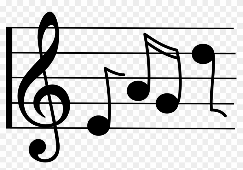 Clipart tune banner black and white stock Musical Notes Clipart Tune - Music Notes Clip Art, HD Png Download ... banner black and white stock