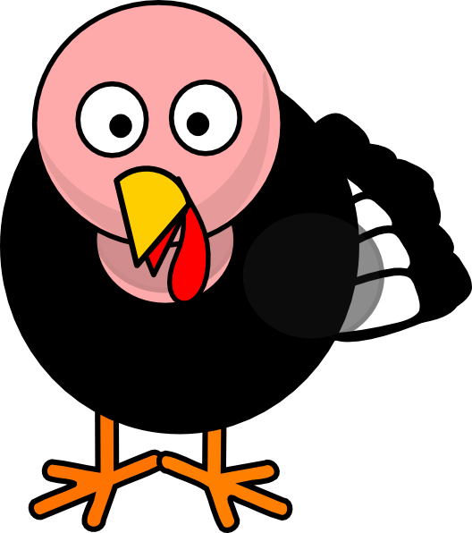 Turkey body part clipart banner black and white stock Turkey Clip Art at Clker.com - vector clip art online, royalty free ... banner black and white stock