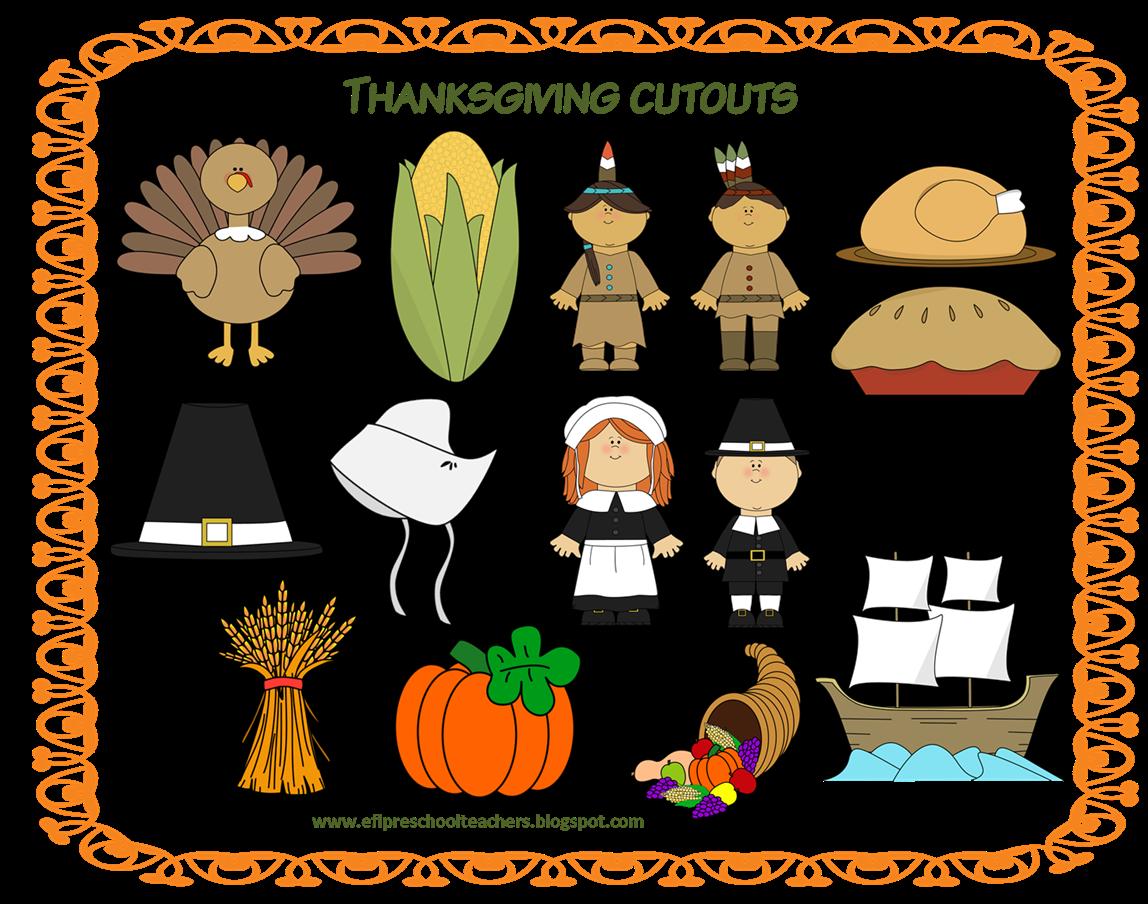 Thanksgiving domino clipart jpg freeuse library ESL/EFL Preschool Teachers: November 2013 jpg freeuse library