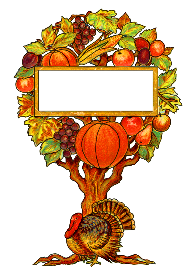 Vintage turkey clipart picture transparent library Happy Thanksgiving Clipart picture transparent library
