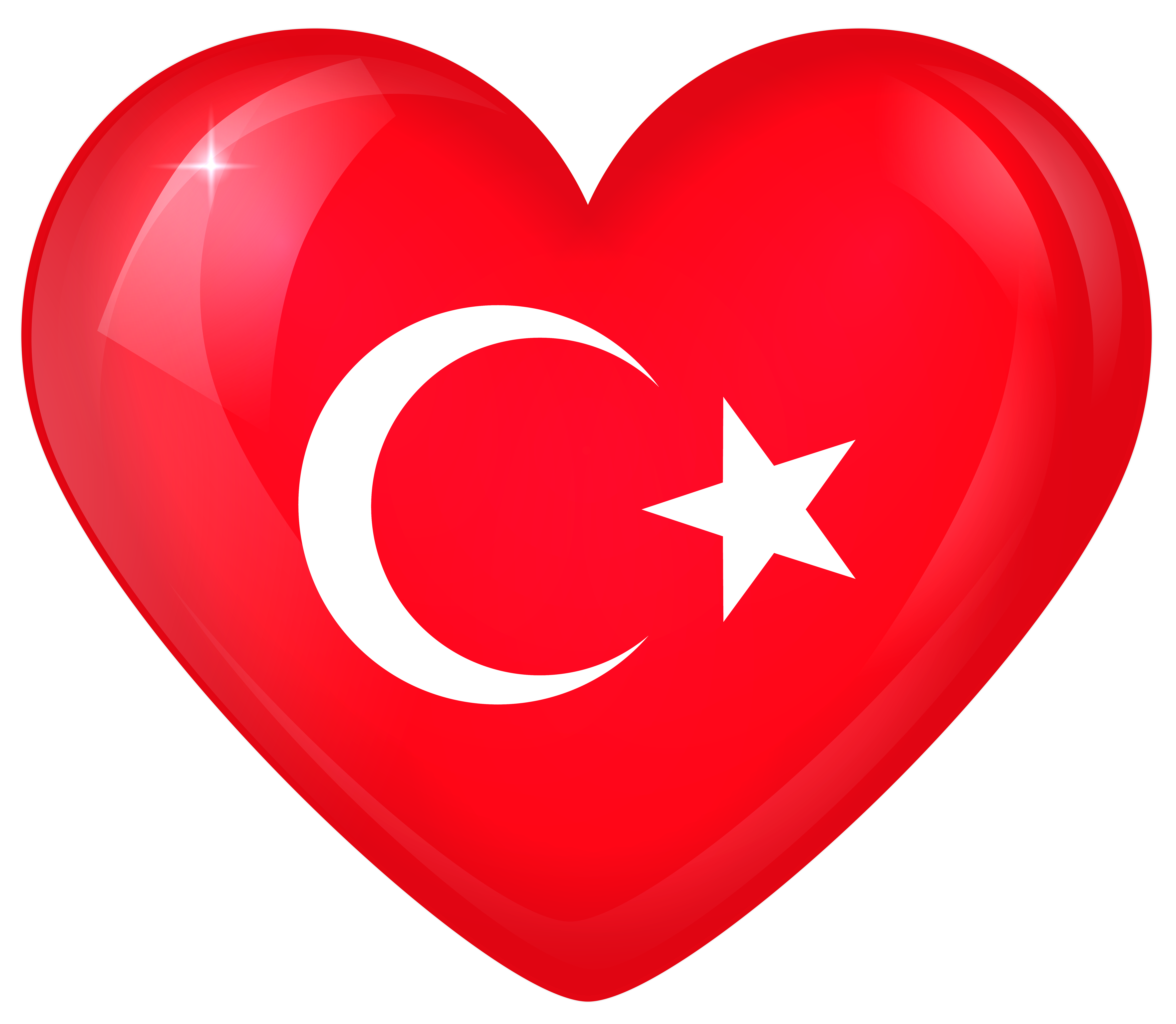 Turkey Large Heart Flag | Gallery Yopriceville - High-Quality ... clip art transparent