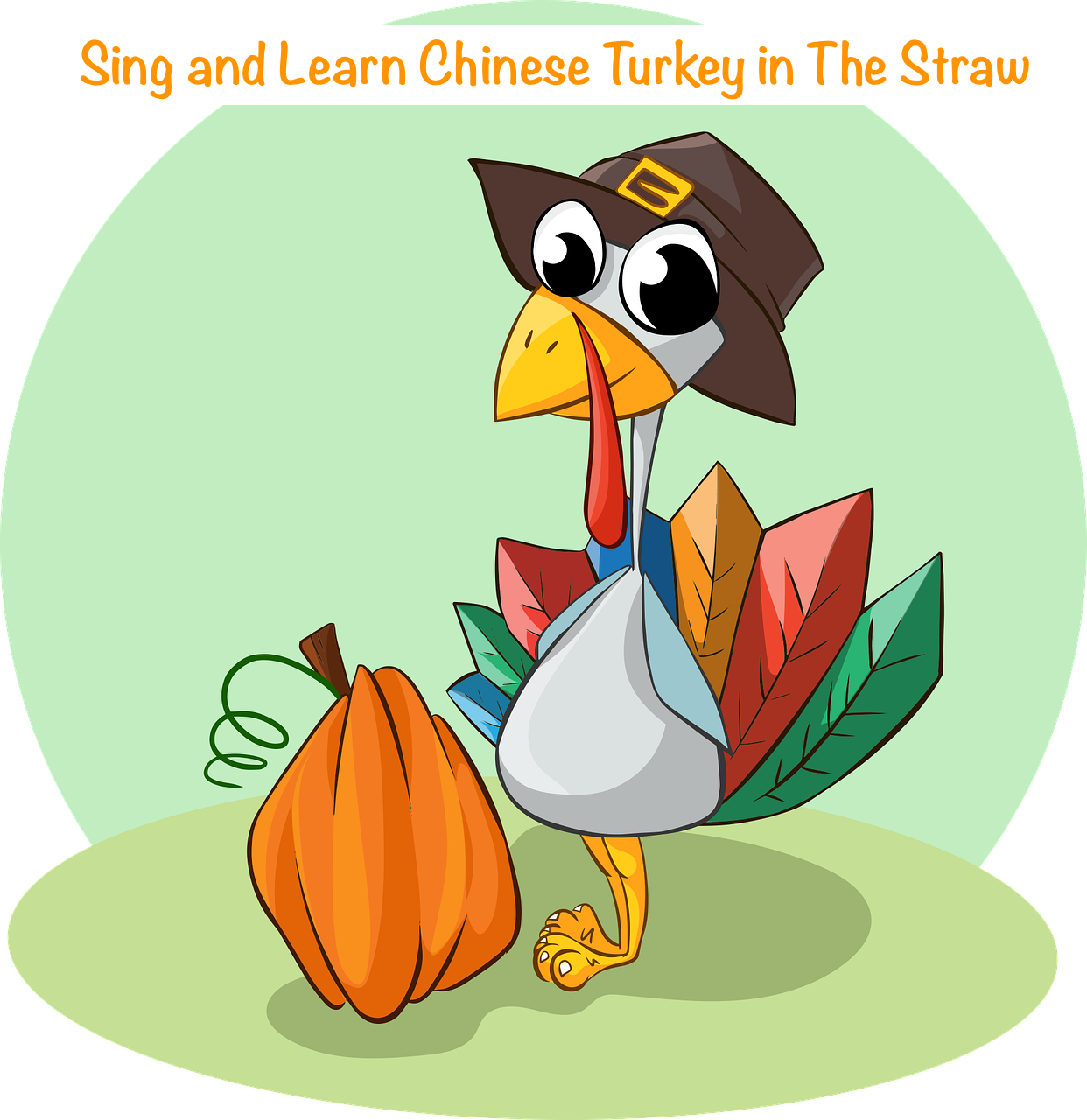 Turkey reading books clipart clip royalty free Chinese Song for Kids Sing and Learn Chinese Turkey in the Straw clip royalty free