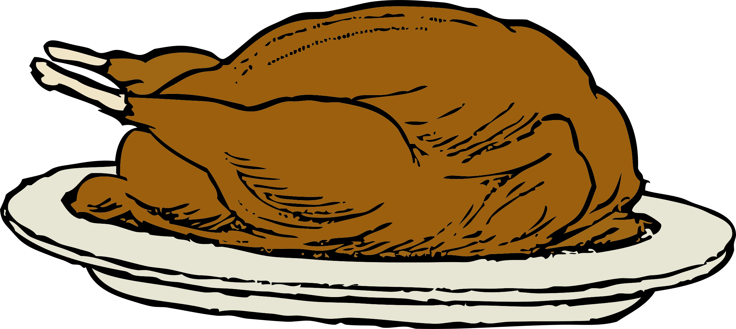 Turkey on a plate clipart clipart royalty free library Clipart - turkey on a platter clipart royalty free library