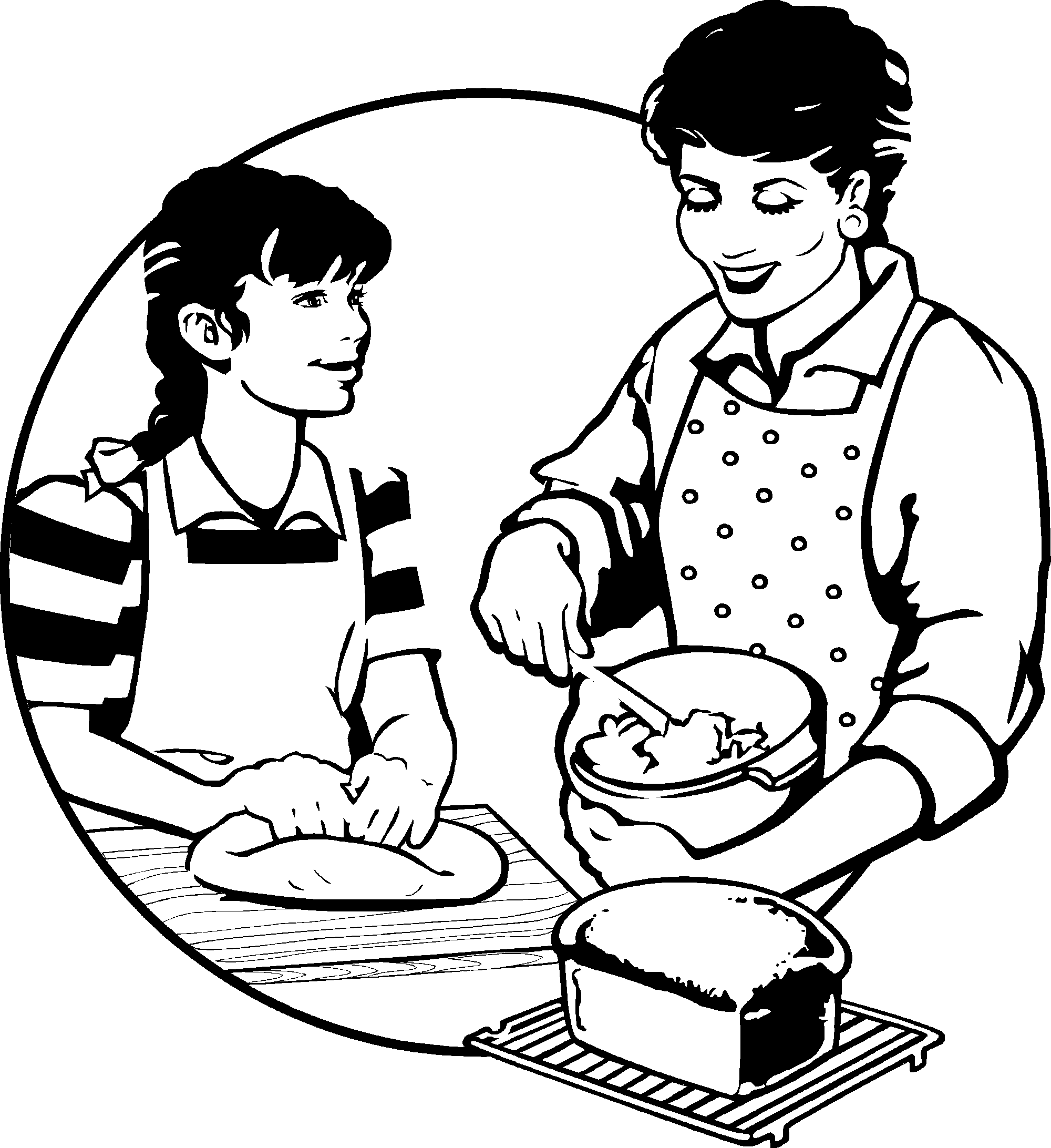 Find free clipart or pics of woman checking temperature of see if turkey cooked picture black and white download Junior Chefs - Recipes by Kids | Food and Health | PlayDate picture black and white download