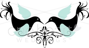 Turtledove clipart picture black and white library Turtledove Clipart | Wedding Bird and Butterfly Clipart picture black and white library