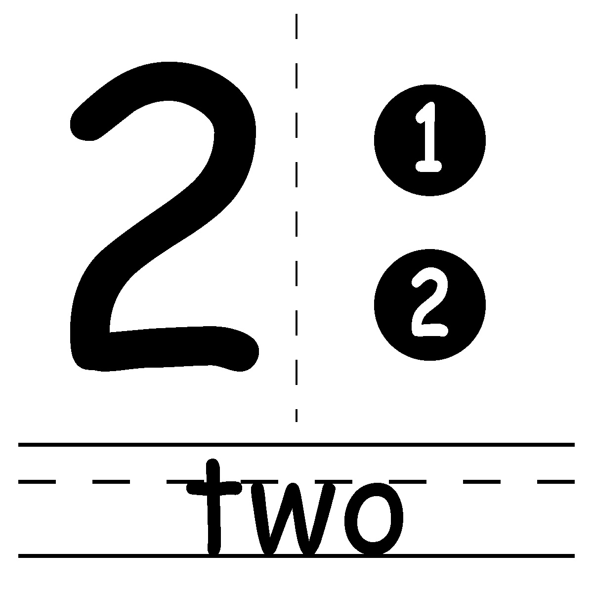 Number panda free images. Clipart two