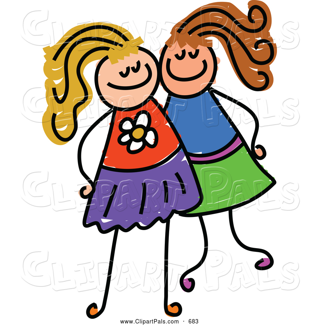 Clipart two clip art stock Two Friends Clipart - Clipart Kid clip art stock