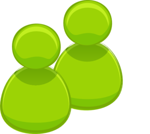 Green people clip art. Clipart two