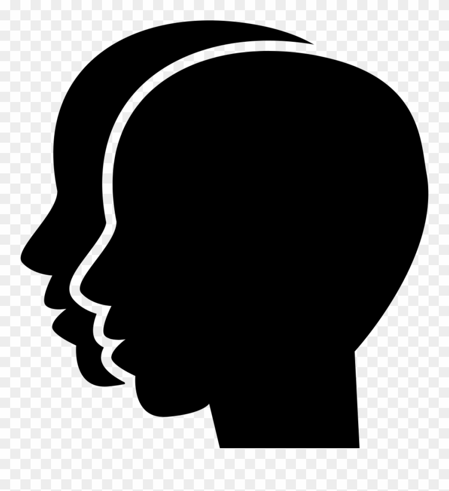 Clipart two heads picture library library Gemini Two Twins Heads Symbol Comments Clipart (#2969094) - PinClipart picture library library