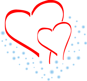 Clipart two hearts png free library Two Hearts Clipart Blue | Clipart Panda - Free Clipart Images png free library